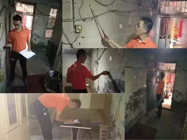 Hai người đo đạc và tính toán cẩn thận các chi tiết để sơn lại tường, làm sàn mới, thay trần nhà để tránh bị dột,...