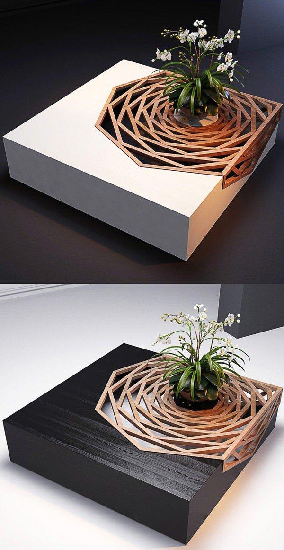 Mẫu bàn trà kết hợp chậu lan chính là thứ đồ nội thất sáng tạo mà chắc chắn ai cũng muốn mua về nhà.
