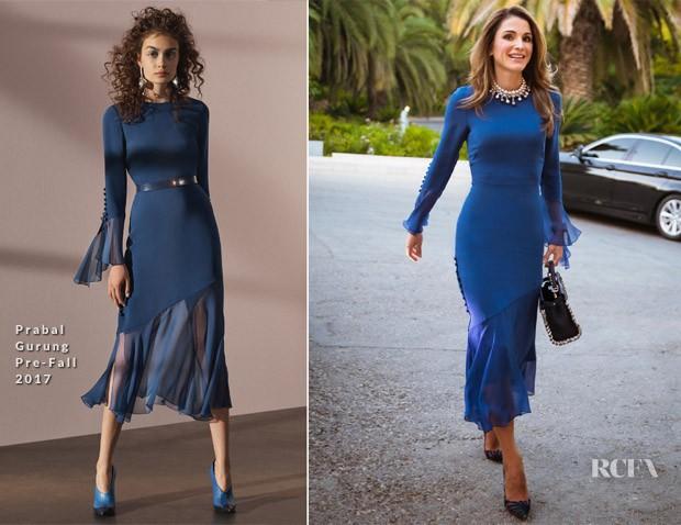 """Hoàng hậu Rania sở hữu một """"kho tàng"""" trang phục và những chiếc túi xách sang trọng đến từ mọi thương hiệu thời trang đình đám nhất trên thế giới. Trong mỗi dịp xuất hiện trước công chúng, bà đều biết cách mang đến sự ấn tượng từ dáng vẻ kiêu kỳ quý phái cho đến từng bộ trang phục, phụ kiện kết hợp phù hợp hoàn hảo."""