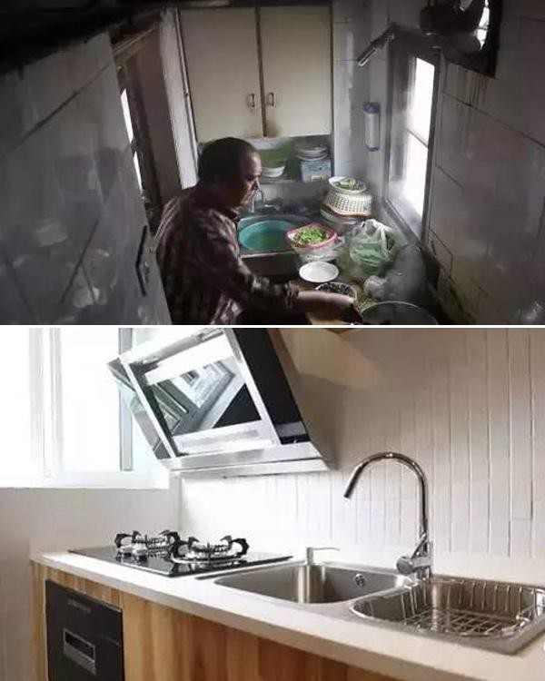 Khu vực nhà bếp như được lột xác hoàn toàn.
