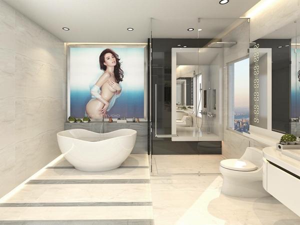 Phòng tắm mà cũng phải long lanh thế này thì sao muốn bước ra?