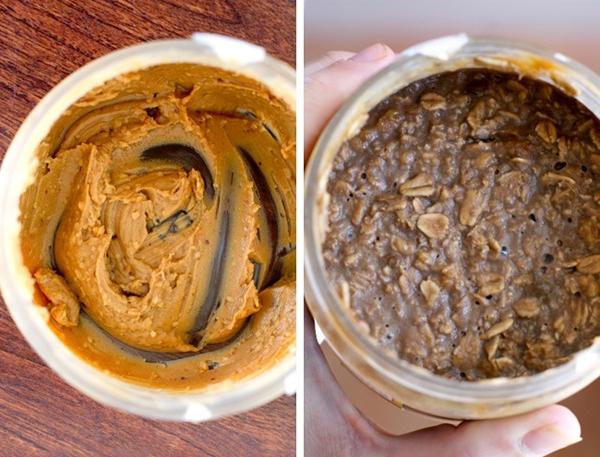 Đây là một cách hay để thu thập phần mứt hay sô cô la dư thừa, hoặc bơ lạc ở đáy bình/ đáy lọ. Chỉ cần thêm ngũ cốc và sữa, khuấy đều là bạn đã có một bữa ăn sáng tuyệt vời!