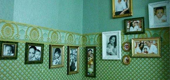 Điểm nổi bật trong nhà Thúy Hạnh là những khung ảnh ghi lại khoảnh khắc đáng nhớ của các thành viên trong gia đình được đặt ở rất nhiều không gian khác nhau.