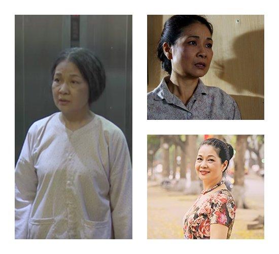 Nghệ sĩ Minh Phương vào những vai hiền lành, chất phác.