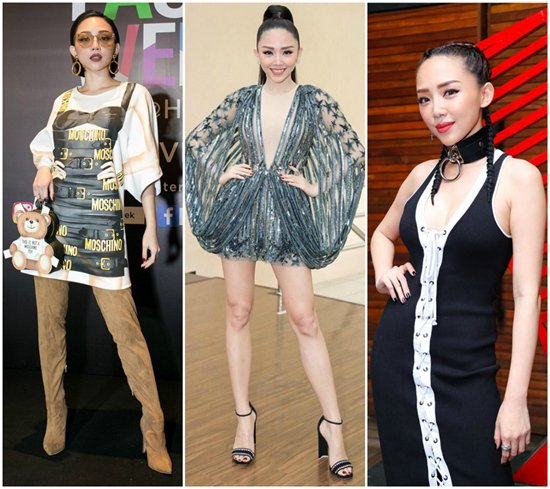 Váy Rihanna, Moschino, Haute Couture Elie Saab... đều là những thiết kế đắt tiền và được sao Âu - Mỹ ưa thích.