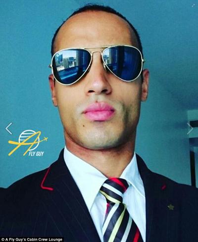 Mohamed Naeem Salama, người Ai Cập, hiện là tiếp viên của hãng Emirates Airlines.