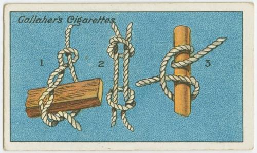 Người xưa hướng dẫn cách buộc dây thừng chắc chắn với từng trường hợp cụ thể. Kiểu thứ nhất hữu ích khi nâng các vật nặng. Cách hai dùng để nối chặt các sợi dây thừng lại với nhau. Cách ba dùng để tăng độ bám và chắc chắn cho dây thừng khi chằng buộc.