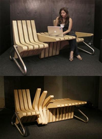 Bạn có thể tự thay đổi hình dạng bộ bàn ghế theo ý mình.