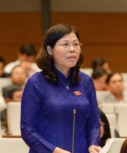 Đại biểu Lê Thị Yến (Đoàn Phú Thọ).