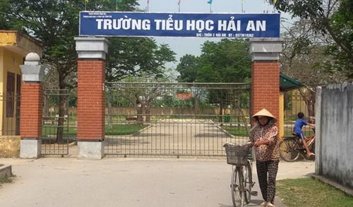 Trường Tiểu học Hải An - nơi xảy ra vụ việc. Ảnh: Lê Hoàng.