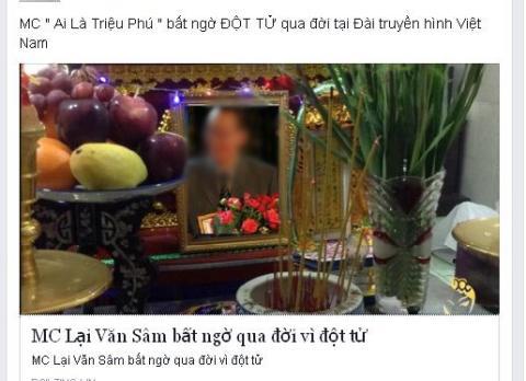 MC Lại Văn Sâm bị tung tin đồn qua đời