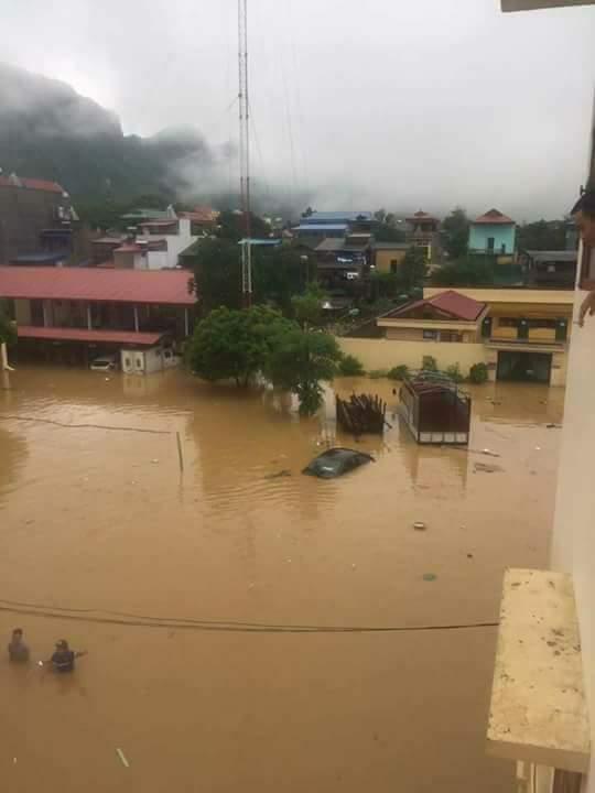 Thiệt hại do mưa lũ từ hoàn lưu bão số 6 tại Thái Nguyên.