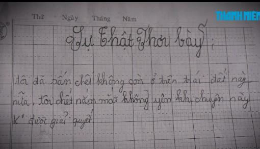 Nội dung bức thư tuyệt mệnh của bé gái 13 tuổi