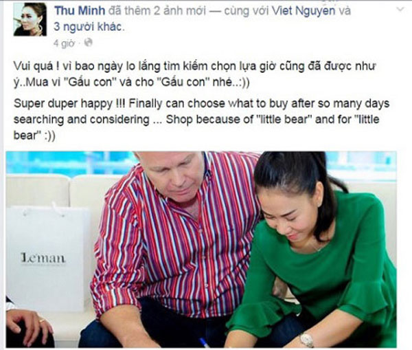 Thu Minh mua nhà 85 tỷ cho con trai.