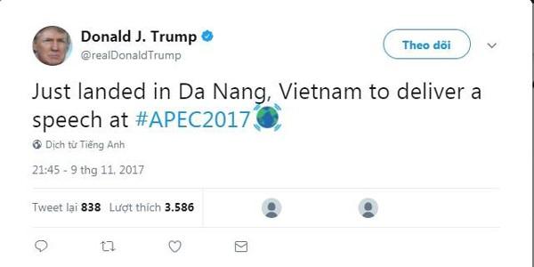 Khi Tổng thống Mỹ đáp chuyên cơ xuống sân bay Đà Nẵng.