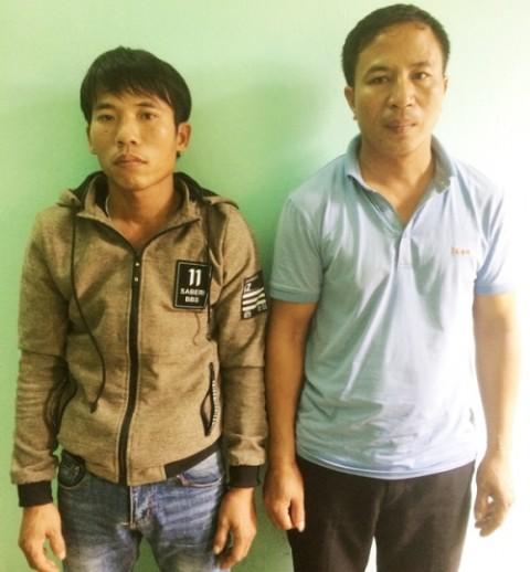 Hai 2 cẩu tặc bị bắt giữ sau 12h gây án. Ảnh công an cung cấp