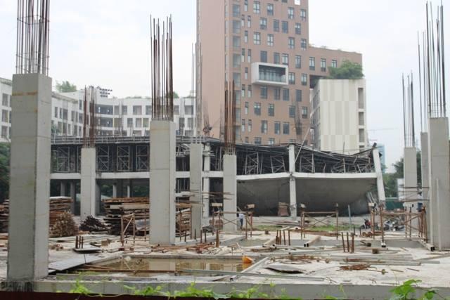 Vụ sập công trình không gây thiệt hại về người.