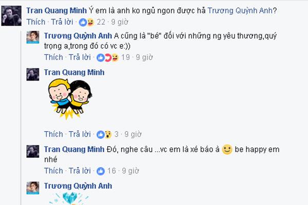 Cuộc trò chuyện của BTV Quang Minh và Trương Quỳnh Anh.