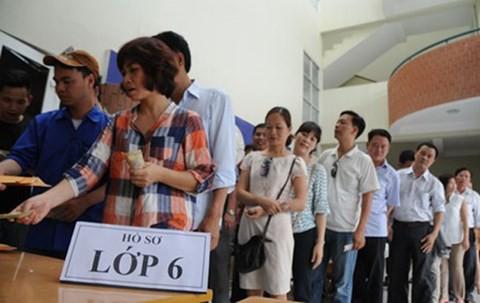 Tuyển sinh lớp 6 năm học 2019 - 2020 tại Hà Nội dự báo sẽ căng thẳng ở nhiều trường. Ảnh: TL