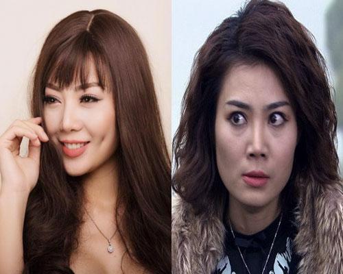 Thanh Hương vừa thủ vai Nhu trong Sống chung với mẹ chồng vừa thủ vai Phan Hương trong Người phán xử