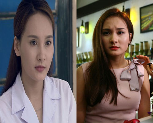 Bảo Thanh vừa thủ vai Mỹ Hạnh trong Người phán xử vừa thủ vai Minh Vân trong Sống chung với mẹ chồng