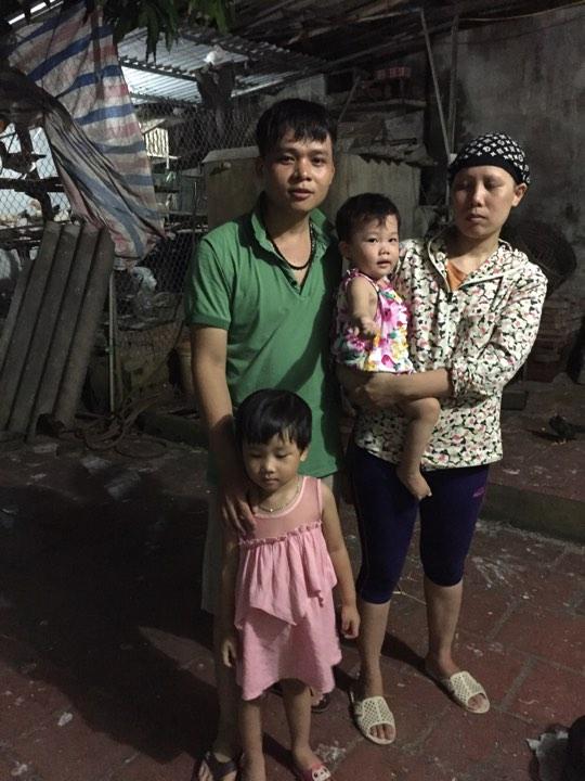 Hoàn cảnh gia đình chị Thuật đang rất cần sự giúp đỡ. Ảnh Phạm Uyên
