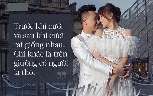 Tâm sự mới đây của Hari Won về chuyện cưới Trấn Thành.