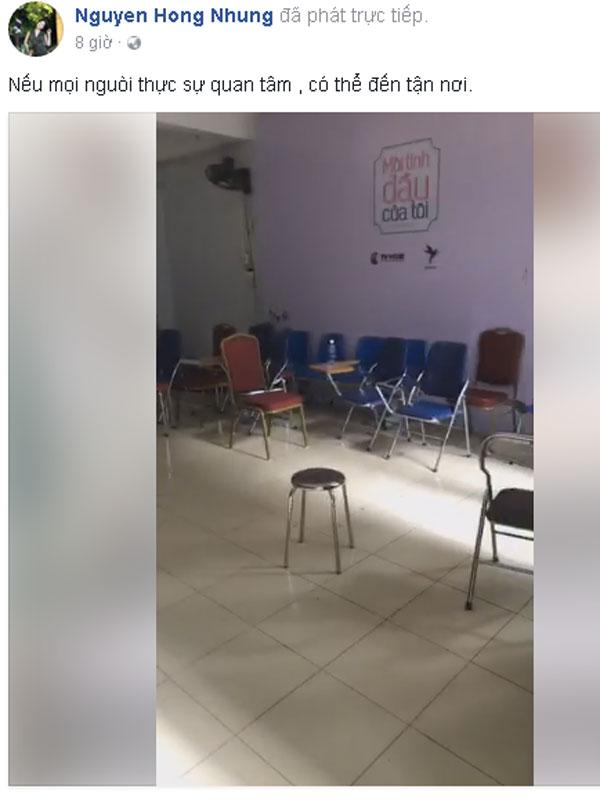 Hồng Nhung chia sẻ bằng chứng cơ sở vật chất thiếu thốn của khoa Sân khấu.