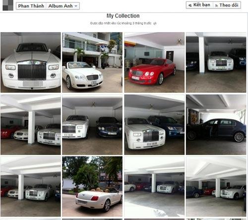 Bộ sưu tập siêu xe của thiếu gia Sài thành trên trang cá nhân.