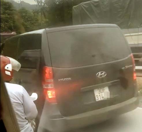 Chiếc xe được cho là liên quan đến vụ việc (ảnh từ clip)