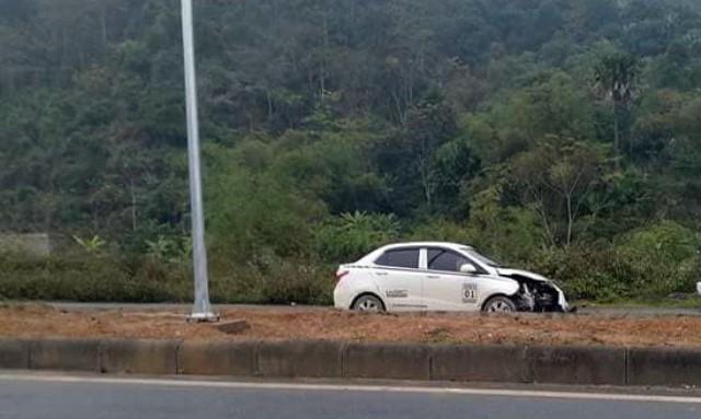 Chiếc xe Hyundai sau tai nạn.