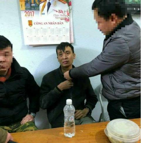 Nghi can Nguyễn Văn Cường tại cơ quan điều tra. Ảnh CA cung cấp