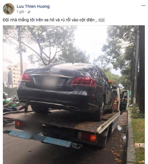 Cận cảnh xế hộp của Lưu Thiên Hương trên xe kéo