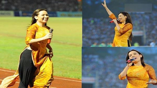 Phi Nhung từng hào hứng hát cổ vũ cho U21 Việt Nam trong một giải đấu lớn.