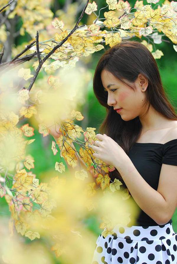 Người đẹp được mến mộ bởi nhan sắc ngọt ngào.