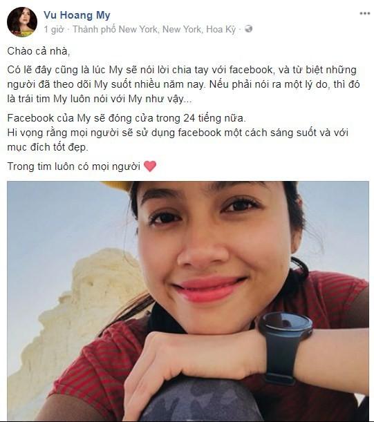 Phản ứng của sao Việt khi thấy nàng Hậu đầu tiên của V-biz đóng cửa Facebook?