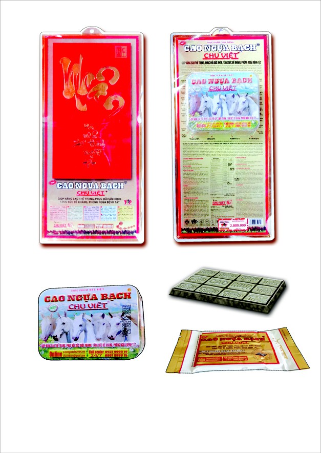 Mẫu mã đẹp, chất lượng cao, sản phẩm cao ngựa bạch Chu Việt đang là xu hướng được nhiều người lựa chọn làm quà tết.