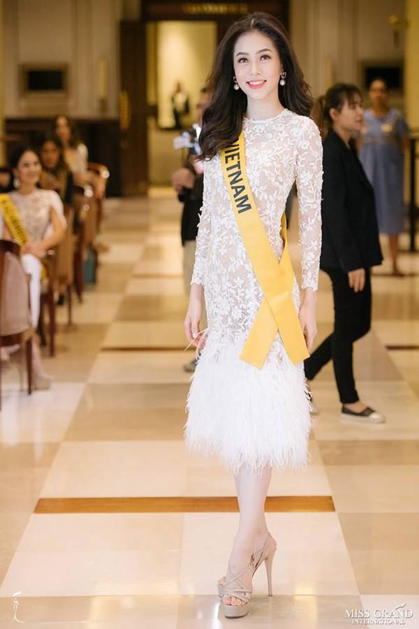 Nhan sắc Á hậu Phương Nga tại Miss Grand 2018.