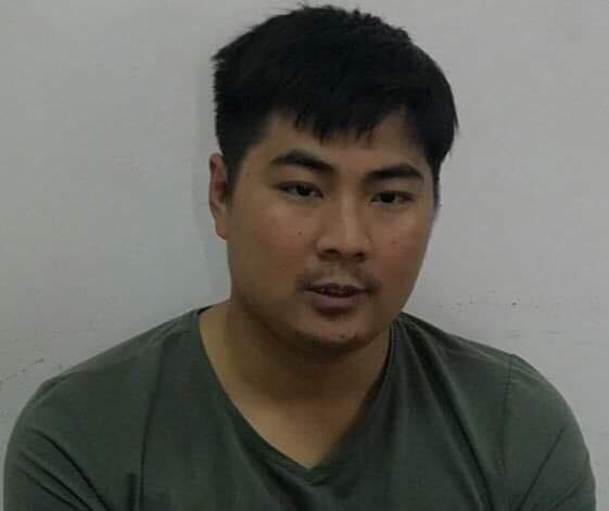 Đối tượng Dương Văn Lộc tại cơ quan điều tra. Ảnh: CQCSĐT cung cấp.