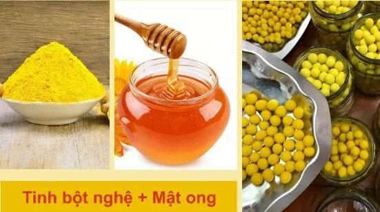 Tinh bột nghệ mật ong được rao bán tràn lan trên mạng nhưng không có nhãn mác.