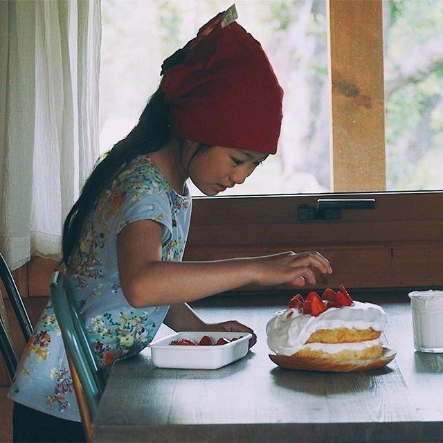Bánh sinh nhật được chị Sami tự tay làm cho con gái.