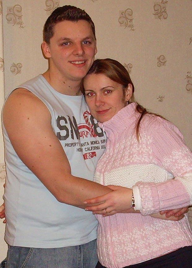 Marcin và Michelina thời còn mặn nồng.