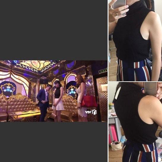 Mẫu áo không tay tôn dáng mà Phương Oanh từng mặc trong những phân cảnh đầu của bộ phim cũng được đăng bán.