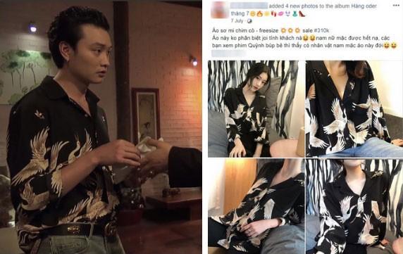 Bên cạnh Quỳnh, mẫu áo sơmi họa tiết mà Phong thiếu gia đã mặc cũng nhanh chóng thành hot item được nhiều shop online nhập về.
