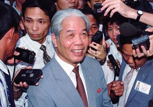 Nguyên Tổng Bí thư Đỗ Mười qua ống kính của PV hãng tin AP. Ảnh tư liệu
