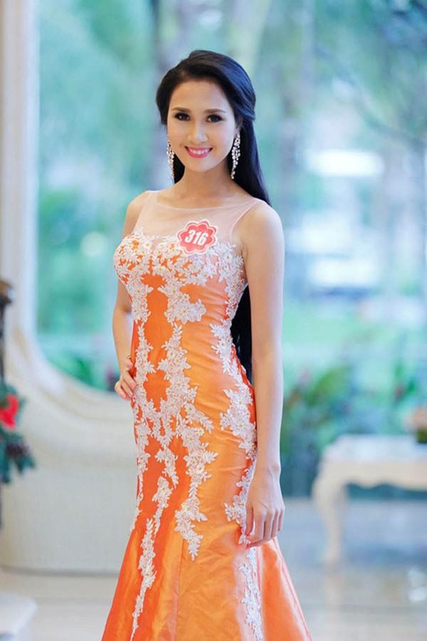 Nguyễn Thị Hà từng có mái tóc vừa dài vừa đẹp trong cuộc thi Hoa hậu Việt Nam 2014.