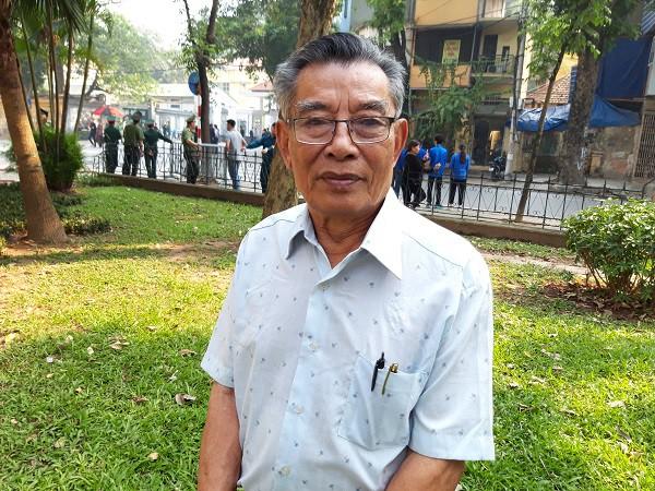 Cụ Hoàng Xuân Tạo - cựu chiến sỹ cách mạng bị địch bắt giam tại nhà tù Hỏa Lò.