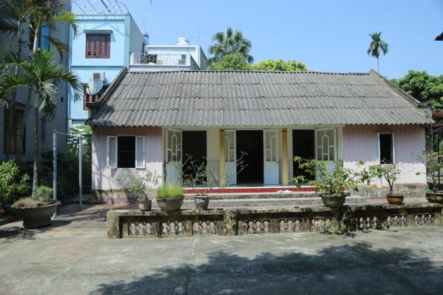 Ngôi nhà cấp 4 nơi nguyên Tổng Bí thư Đỗ Mười đã sinh ra và lớn lên.