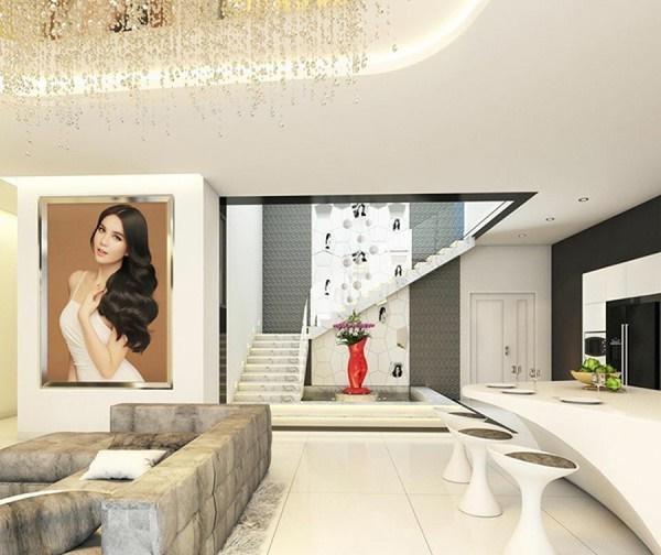 Nhà mới của Ngọc Trinh có diện tích 200m2, nằm trên tầng 33 của một khu căn hộ cao cấp ở Quận 7, TP HCM.