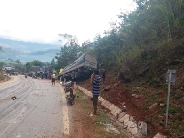 The scene of the accident. Photo: Thu Thủy